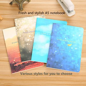 Mengpi small fresh A5 notebook soft copy 32K small notepad kraft notebook portable student gift car line book