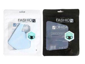 Moda Pacote Retail Box Embalagem Embalagem de proteção OPP saco zipper bolsas com zíper bloqueio sacos de Máscaras