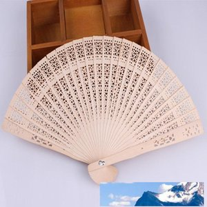 Новый китайский Aromatic Wood карманный складной Ручные вентиляторы Elegent Home Decor партия выступает быстрая доставка