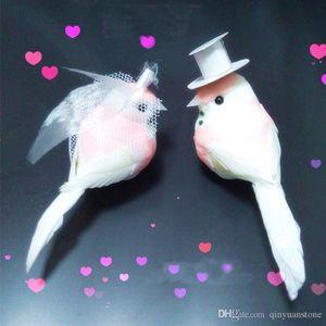 10PCS,Decorative Pink Love Bird Artificial Foam Feather Mini Birds With Clip,DIY Craft For Christmas Ornament Wedding Decoration