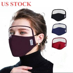 US Stock Cotton Mask with Eye Shield Eyes Protection Face Mask Anti Dust Windproof Men Women Protective Mask DHL Shipping