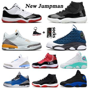 des chaussures NIKE AIR Jordan 11 25th Anniversary 2020 chaussure de basket-ball Retro 3 UNC aj Flint 13 Low Concord 11 Bred Sneakers Cap and Gown Space Jam hommes femmes Trainers