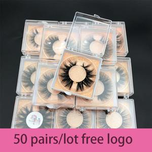 50pairs ordem por atacado / lot gratuitos MIKIWI personalizado caixa 24 Styles suave Eye dramática cílios 5D verdadeira mink handmade cílios grossos CX200722