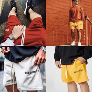 Patrón esenciales para hombre retro tela escocesa escocesa Pantalones cortos Calle Hip Hop casual Pantalones cortos masculino flojo elástico de la cintura de la cremallera pantalones cortos de playa S # 472