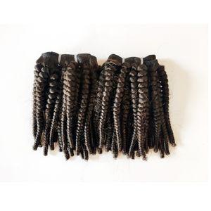 Unverarbeitete brasilianische Jungfrau-Haar Afro 4c Versaute Curly 10-22inch Schwarze Frau indische Remy Haar-einschlag billig zum Verkauf Fabrik-Preis 3pcs / lot