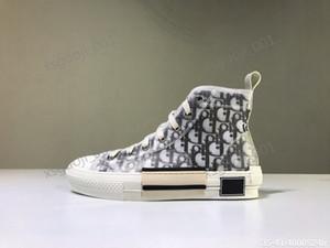 Dior shoes Последний цветок технический холст «B23» высокие кроссовки косой вскользь высокого качество спортивной обувь женских мужской обувь обуви люкса Xshfbcl
