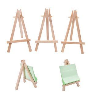 8x15cm Natural de madeira Mini Tripod Easel Mini Decoração do casamento Pintura Pequeno Titular do Menu Board Accessoriy titulares stand de exibição LJJP121