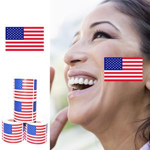 Amerikan Bayrağı Yüz Sticker 2020 Amerika Birleşik Devletleri Başkanı Seçim Bayrağı Çevre Çıkartma DHL Ücretsiz Kargo Malzemeleri