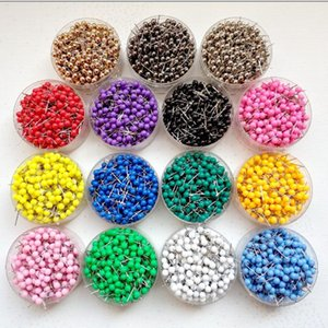 1  8 Inch Small Map Push Pins Map Tacks, Plastic Head with Steel Point, 100 pcs set, 15colors for option