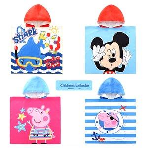 ZALE çocuk pelerin karikatür çabuk kuruyan plaj Cloak banyo giyilebilir havlu spor banyo havlusu etek