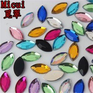 Micui 300pcs 6 * 12мм Лошадь глаз кристаллы Flatback Стразы акриловые Кристалл Стразы Non Hotfix Clear Кристалл Камни ZZ664