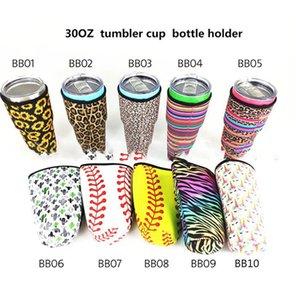 baseball softball Water Bottle Cover for 30 oz cup use Neoprene Insulated Sleeve bag Case Pouch KKA7862