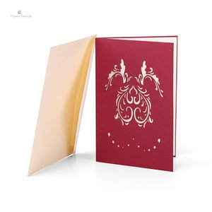 Gift Day Card Cartolina 1001R Greeting Greeting Card tridimensionale 3D Paper-cut personalizzato Love Tree San Valentino