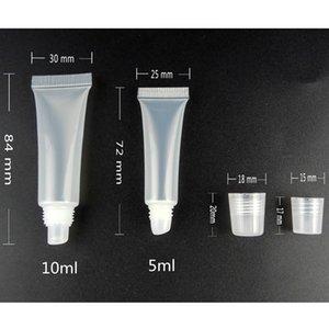 200pcs 8ml 10мл Макияж для губ Soft Tube Lip Balm Оттенок Liquid Lipstick Cosmetic Soft Упаковка Путешествия бутылки