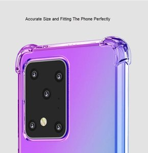 Air Cushion Soft TPU Case for Samsung Note 20 S20 Plus S10 M51 Note 10 Endurable Shockproof Gradient Colorful Fashionable Designer Cases