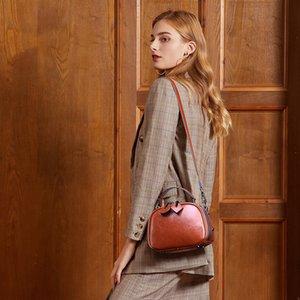 Wine Red Mini Crossbody Beutel für Frauen 2020 Frühling Leder Reisehandtaschen-Schulter-Kurier-Taschen Female