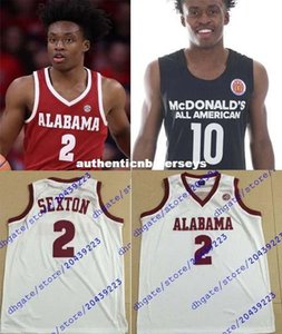 Дешевые Пользовательских #collin Sexton трикотажных изделий Оклахома Sooners баскетбольного Джерси Макдональдс AMERICAN Mens Белый Бордовый Черный прошитой