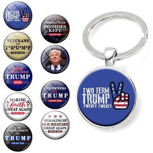 Trump Trump 2020 Llavero suministros electorales Accesorios Donald Trump Keep America gran momento de la gema colgante llavero DHF179