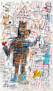 Jean Michel Basquiat Abstrakte Kunst Ohne Titel Zeichnung Home Decor Handbemalte HD-Druck-Ölgemälde auf Leinwand-Wand-Kunst-Leinwandbilder 200730