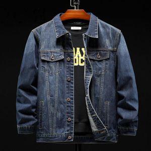Men Denim Jacket Designer Coats Fashion Jeans Jackets Slim Fit Casual Streetwear Single-Breasted Vintage Mens Jean Clothing Plus Size M-5XL