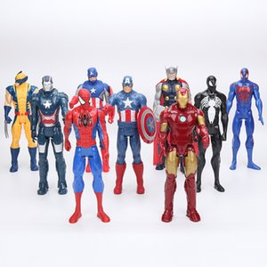 Super Toy Marvel The Avenger Action Figure Toy Super Hero Model Doll Wolverine Thor Captain America Iron Man Model Toy Gift