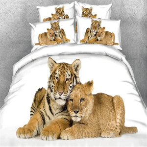 3D Tiger Bed Duvet Cover Set Pillowcase Kids Bed Cover Set Twin Full King Size Quilt 3pcs set Bedding for Home Textile