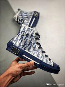 2020 hommes nouveau style et les femmes Oblique Slip-on Top haute bande Sneakers CD ghosting chaussures à toile