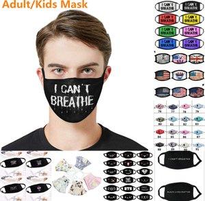 Stati Uniti Stock Fashion Designer maschere faccia della valvola Paillettes Cartoon Bocca Maschere fodera lavabile Reusble cotone per adulti di protezione / bambini panno di fronte