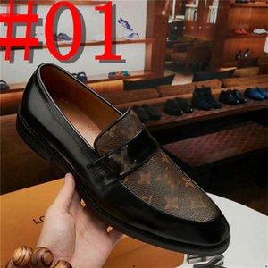 2020 Men Dress Shoes 2020 Fashion Luxury designer Casual Business Leather Shoes Classic Men Outdoor Leather Shoes 38-45