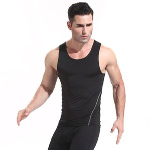 Mens PRO ginásio de secagem rápida esportes calças colete t-shirt treinamento de basquete de manga curta em execução aptidão stretch verão Regata 6 cores XXL