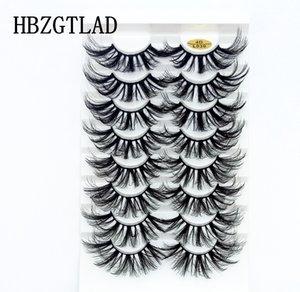 NEW 8 pairs 25mm 3D fake Eyelashes 100% Mink Eyelashes Mink Lashes Natural Dramatic Volume lashes Extension False 3D Eyelashes 030