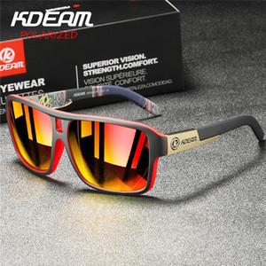 KDEAM Polarized Goggles Men Sport Eyewear Square Sunglasses Male Brand Driving Polarized Glasses Outdoor UV400 Goggles MI15 MX200619