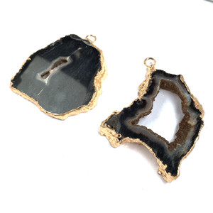 natural black agates irregular pendants for jewelry making diy charm beautiful necklaces pendants supplies