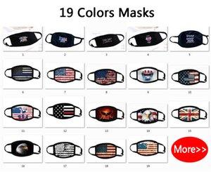 DHL корабль! 5Styles Donald Trump 2020 Маска для лица Ткани антипылевой маска смешного хлопка США Женщина Мужчина Мужской мода зима теплой моющийся маски