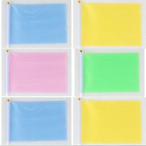 Polyester Cloth Bandeira pequeno colorido do jardim de infância padrão Portador mão Flags Escola exercícios da manhã Little Red Bandeira 0 3zh2 L1