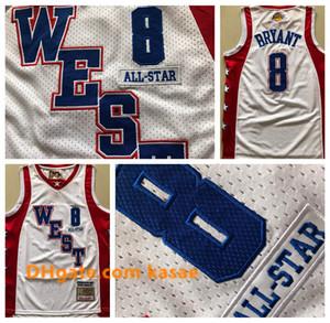 Vintage Los AngelesLakersKobeBryantJersey 8Mitchell Ness 2004 All-StarBryantNBA Basketball Jerseys
