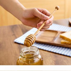 20.5*3cm High Quality Long Handle Beech Wood Honey Dipper Eco-friendly Wooden Honey Stick Honey Server Home & Kitchen Accessories