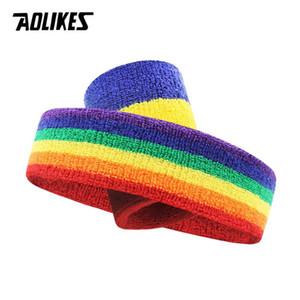 AOLIKES unisexe sport unisexe poignet bracelet Sweatband Protector Respirant Courir Badminton Basketball Bands Sweat Sport sécurité