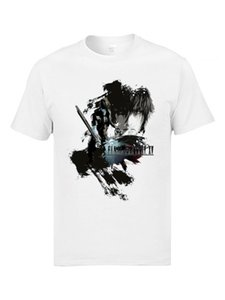 Final Fantasy FF15 Game T Shirts For Men Bioshick Space Soldier Cool Anime Harajuku Tshirts Mens Video Game T-Shirts Teenage