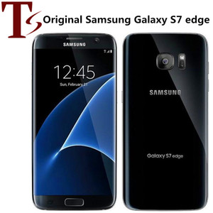 Восстановленное Оригинал Samsung Galaxy S7 Край G935F G935A G935T G935V 5,5 дюйма супер AMOLED 4 Гб оперативной памяти 32 Гб ROM 4G LTE телефон
