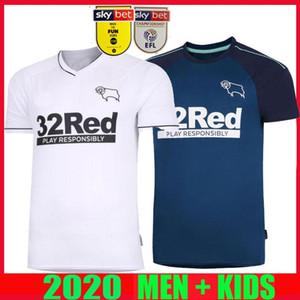 20 novos camisas de futebol 21 Derby County Home distância rooney 2020 2021 Camisetas de fútbol MARRIOTT LAWRENCE Waghorn camisas de futebol homem crianças kit