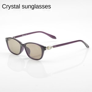 Women's crystal sun stone for sun glasses sunglasses middle-aged and elderly mothers 2195