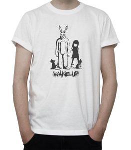 Fashion Masckot Wake Up T-shirt Donnie Darko Movie Suit Grey White