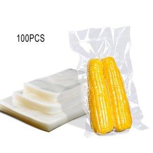 100 adet / torba 10x15cm şeffaf vakum torbası Plastik mühürlü torba Dikdörtgen Delicatessen Günlük ihtiyaçlar
