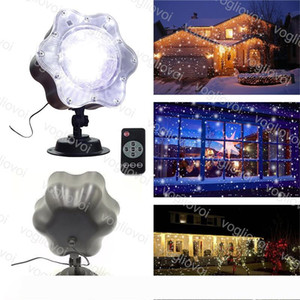 Projectors Lights Led Outdoor 6W Waterproof Lawn Lamp MAX Snow Modeling White Snowflakes Inserted Christmas Mini Snowing With Controller DHL