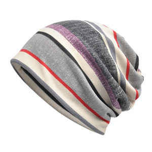 Beanies Cap Scarf Striped Flannel Casual Style Sunshade Breathable Stretch Sun Hat Neck Warmer HeadWear Sportswear Accessories