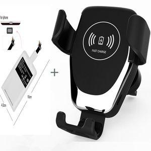 Caricabatteria da auto Qi wireless per iPhone XS Max X XR 8 Wireless Charging Car Holder telefono per Samsung S10 S8 Note9 S9