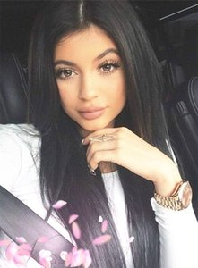 Kylie Jenner Long Straight Wig 20 Inches Black