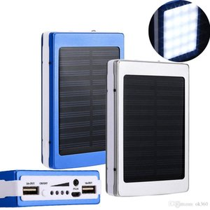 30000 mah Solar Charger and Battery 30000mAh Solar Panel Dual UAB Charging Ports portable power bank with LED Light for All Cell Phone