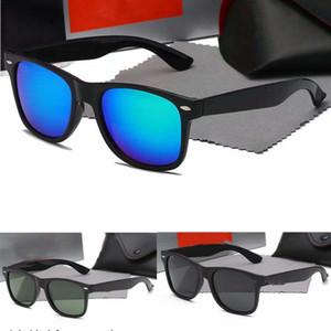 con caja de p140 mujeres de los hombres gafas de sol Wayfarer aviador de la vendimia piloto de marca gafas de sol polarizadas UV400 para mujer Banda Wayfarer Gafas de sol 4csX #